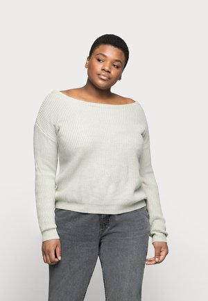 OPHELITA OFF SHOULDER - Jumper - grey