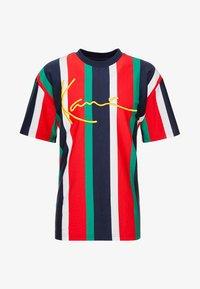 Karl Kani - SIGNATURE TEE - Camiseta estampada - navy/red/green/white - 4