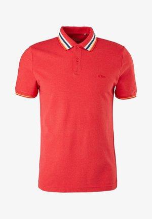 Polo shirt - red melange