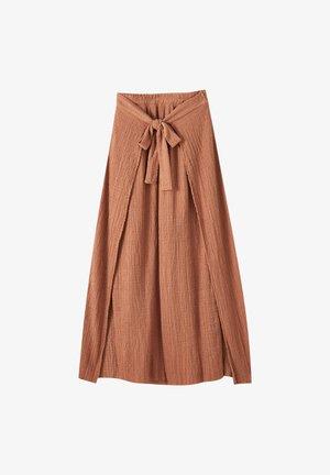 IM PAREO-STIL MIT GÜRTEL - Spodnie materiałowe - red