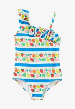 Swimsuit - bunte früchte/streifen