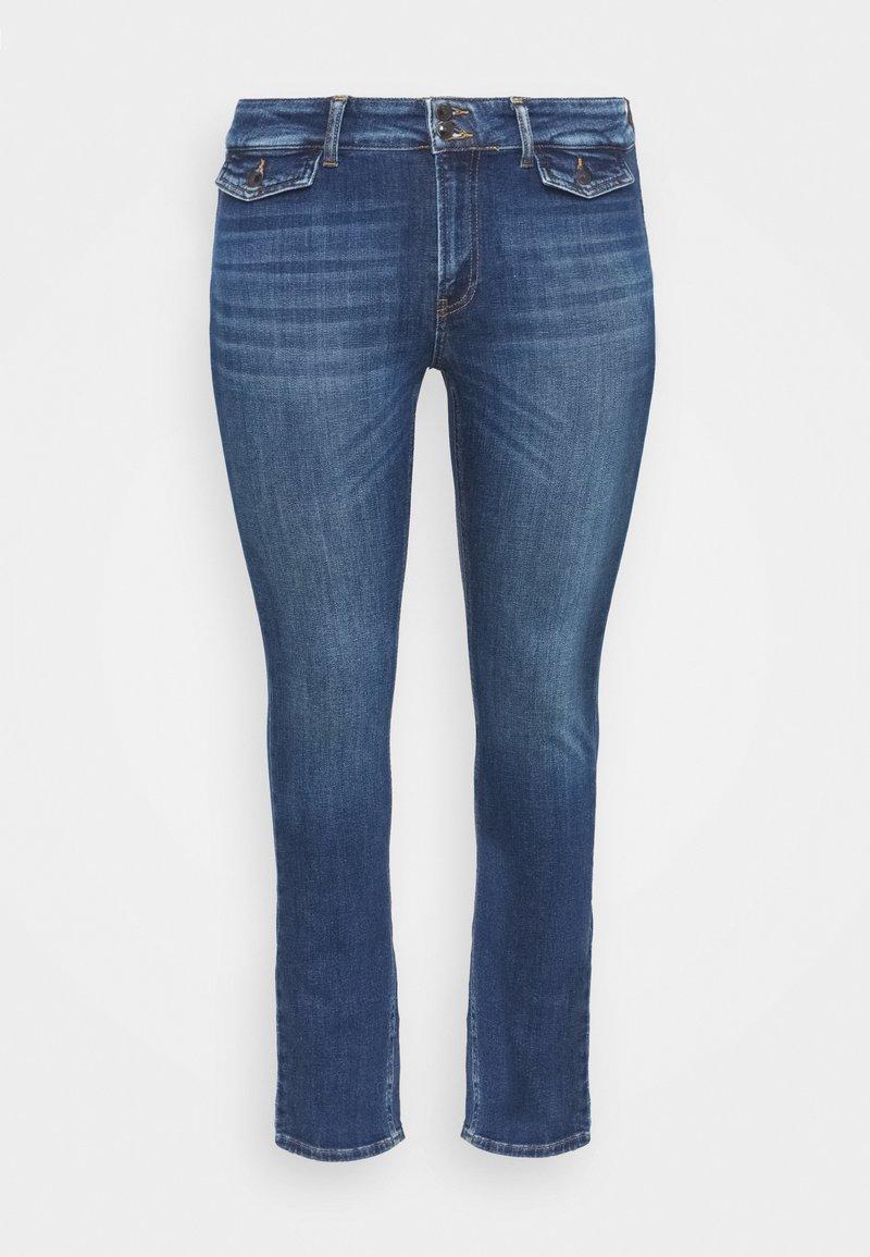 ONLY Carmakoma - CARKAYA LIFE POCKET - Slim fit jeans - dark blue denim