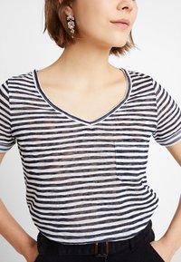 Object - Basic T-shirt - sky captain/white stripes - 4