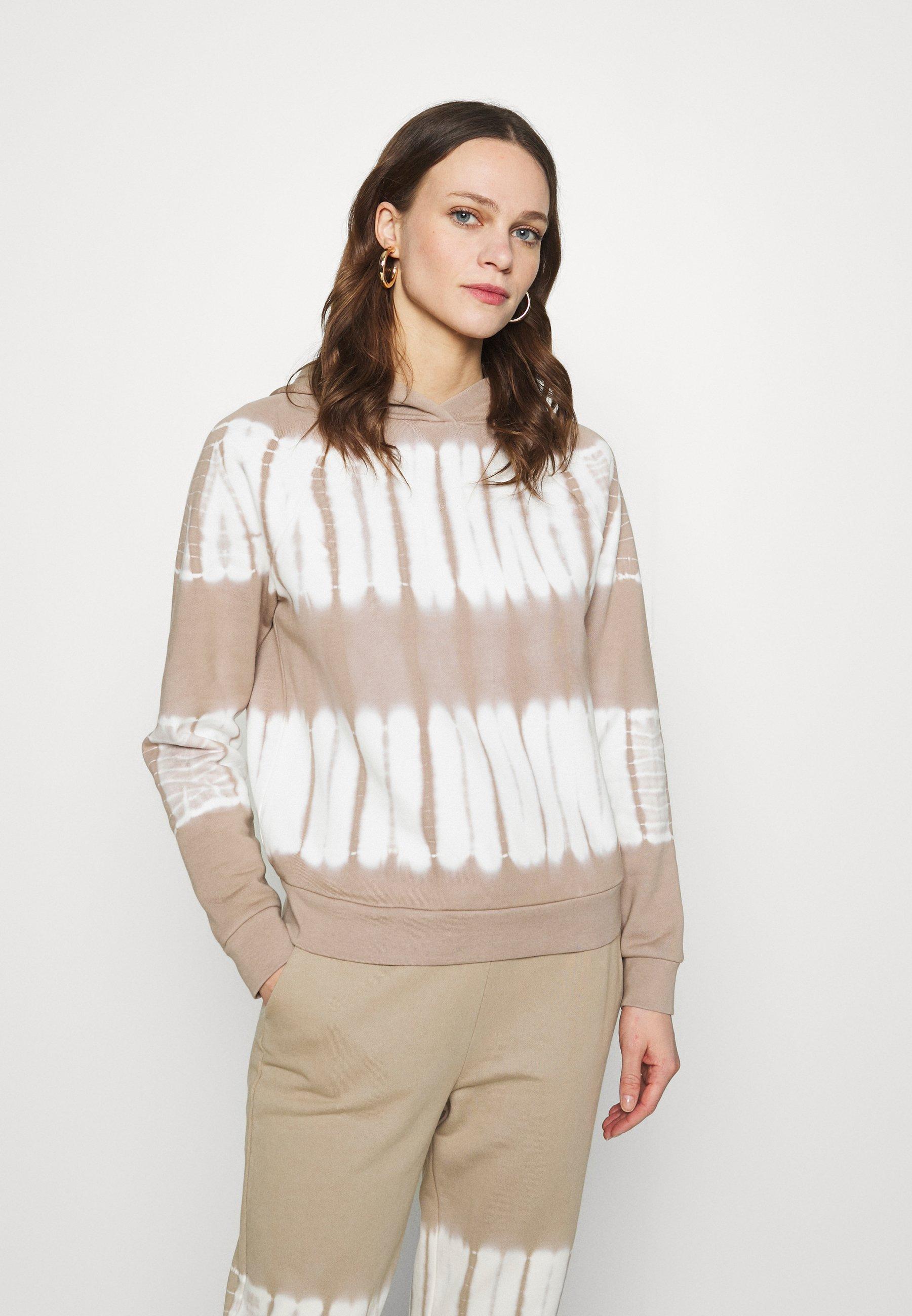Women BACK PACK TIE DYE HOODIE RECYCLED SOFT TOUCH - Sweatshirt