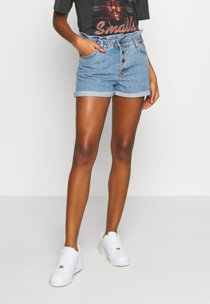 ONLCUBA LIFE PAPERBAG - Denim shorts - medium blue denim