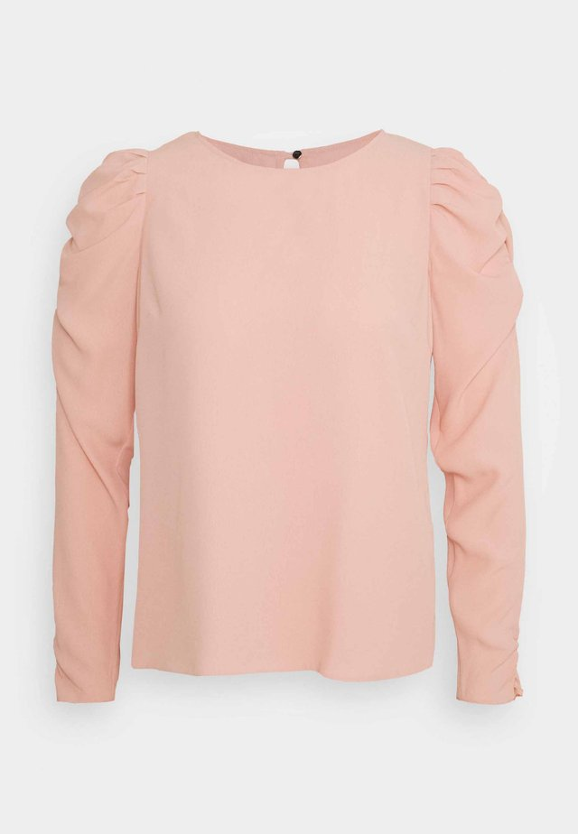 PETITES SUSTAINABLE LONG SLEEVE PUFF SHOULDER TOP - Blus - pink