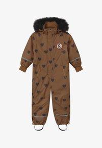 Mini Rodini - KEBNEKAISE HEARTS - Snowsuit - brown - 4