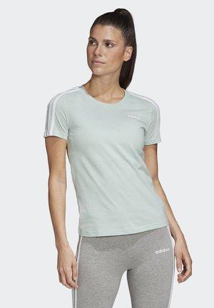ESSENTIALS STRIPES - T-shirt imprimé - green/white