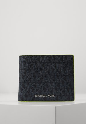 GREYSON BILLFOLD COIN POCKET - Wallet - black /neon yel