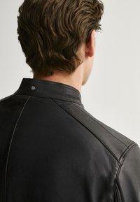 Massimo Dutti - Leather jacket - blue - 5