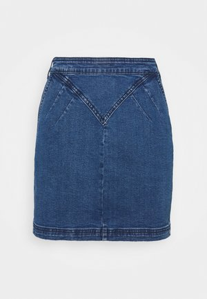 Mini skirt - medium blue denim