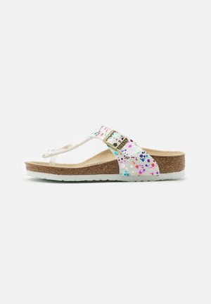 GIZEH KIDS CONFETTI POP - T-bar sandals - white