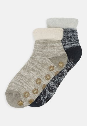WOMEN WARM UP COSY QUARTER 2 PACK - Socks - taupe