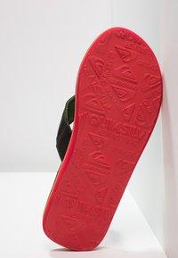 Quiksilver - MOLOKAI ABYSS - T-bar sandals - green/black - 4