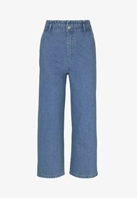 TOM TAILOR DENIM - Flared Jeans - used mid stone blue denim - 6