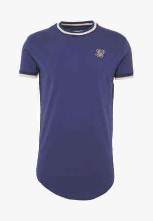 RIB GYM TEE - Print T-shirt - navy