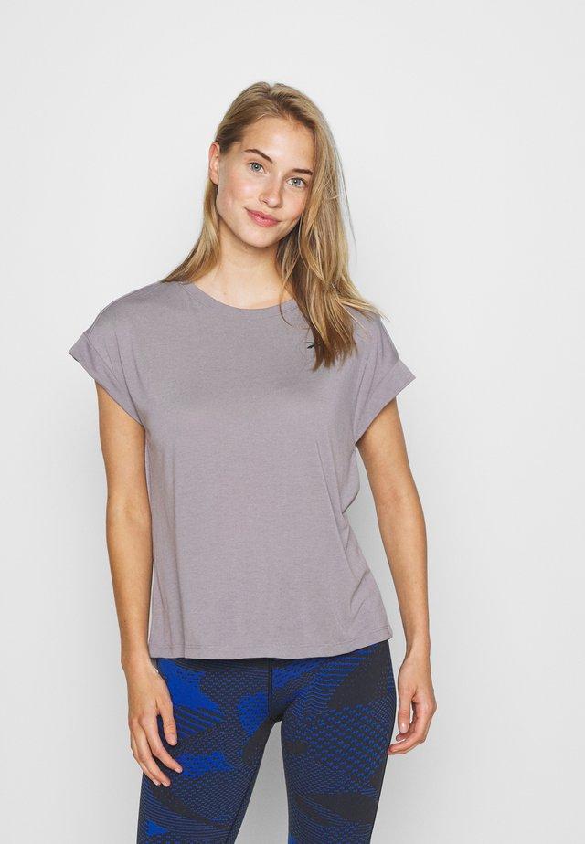 SUPREMIUM DETAIL TEE - T-shirts med print - grey