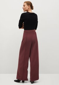 Mango - ELODY - Trousers - wine - 2