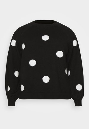 Jumper - black/white
