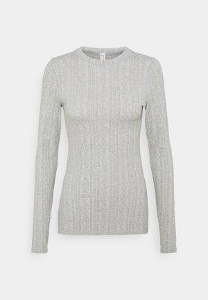 CHILLY NIGHTS LONG SLEEVE - Strikkegenser - heather grey
