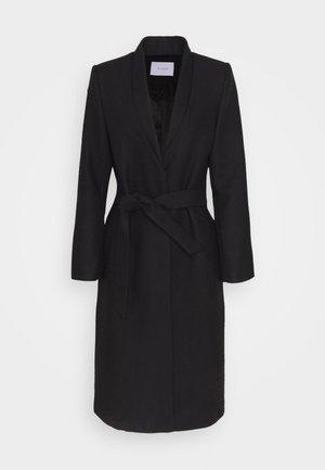 DOUBLE COLLAR COAT - Classic coat - black