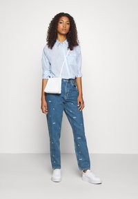 Tommy Jeans - BOLD STRIPE - Button-down blouse - white/moderate blue - 1