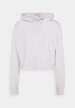 BASIC - Cropped oversized hoodie - Luvtröja - white