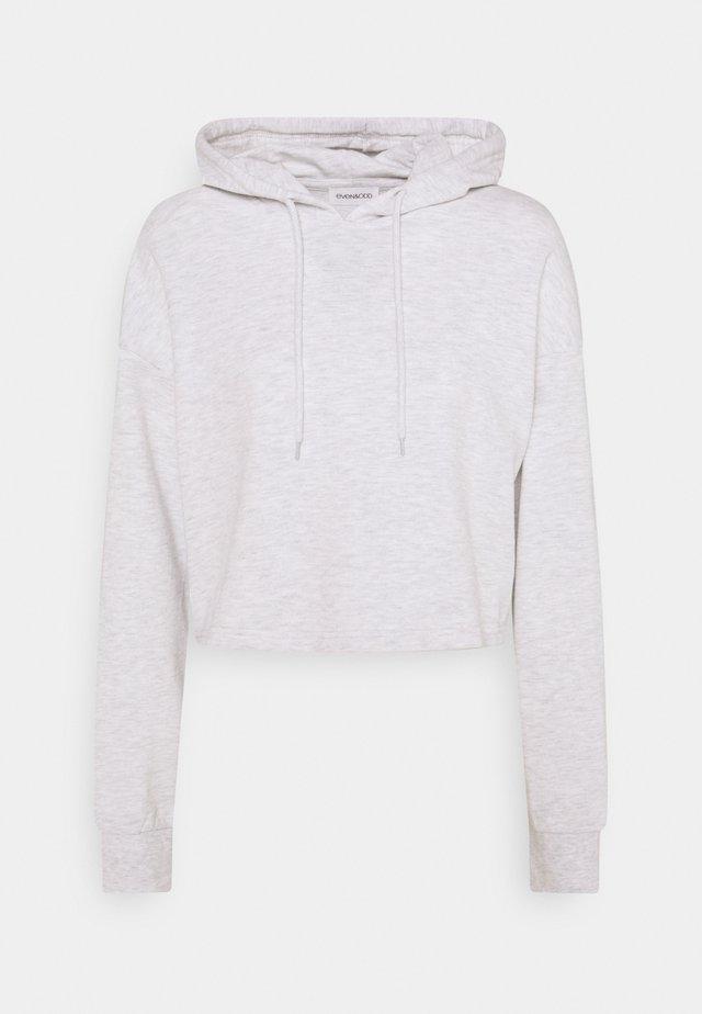 BASIC - Cropped oversized hoodie - Mikina skapucí - white