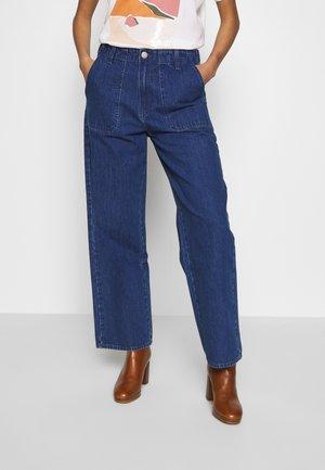 WIDE LEG - Trousers - mid jelt