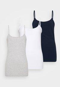 3 PACK - Top - white/navy/light grey