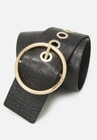 Pieces - PCFIWA WAIST BELT - Waist belt - black/gold-coloured - 2