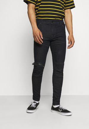 5620 3D ZIP KNEE SKINNY - Skinny-Farkut - elto superstretch