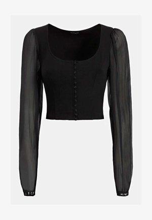 TRANSPARENTE ÄRMEL - Koszula - schwarz