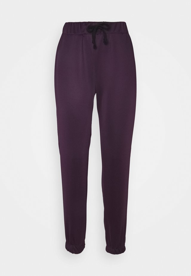 Tracksuit bottoms - plum
