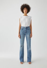 PULL&BEAR - Straight leg jeans - blue denim - 1
