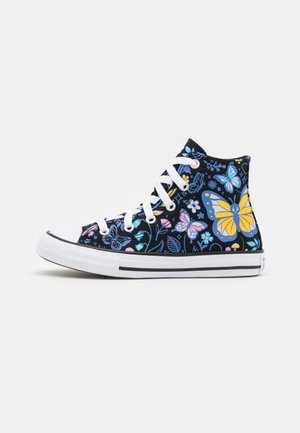 CHUCK TAYLOR ALL STAR BUTTERFLY FUN - Korkeavartiset tennarit - black/bleached cyan/pink gaze