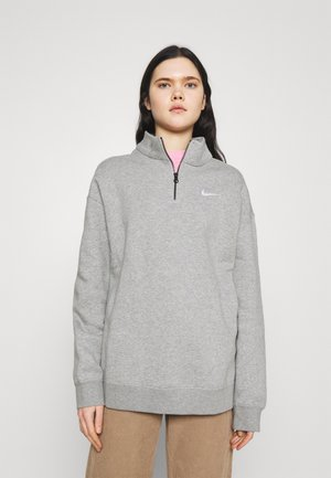 TREND - Sweatshirt - grey heather/matte silver/white
