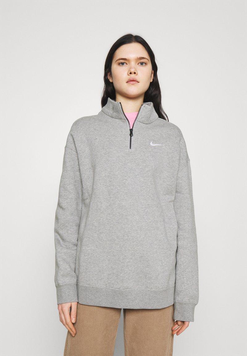 Nike Sportswear - TREND - Sweatshirt - grey heather/matte silver/white