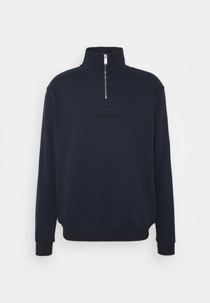 ESSENTIAL REGULAR HALF ZIP - Zip-up hoodie - navy