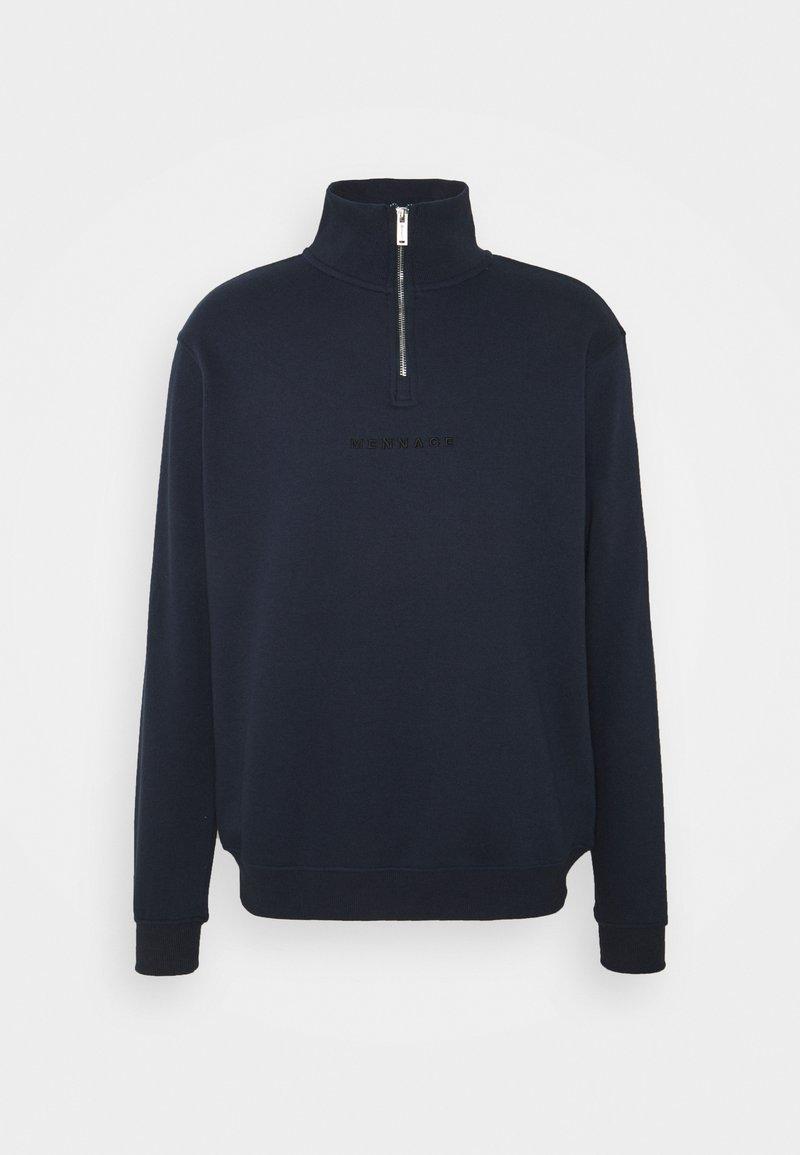Mennace - ESSENTIAL REGULAR HALF ZIP - Zip-up hoodie - navy