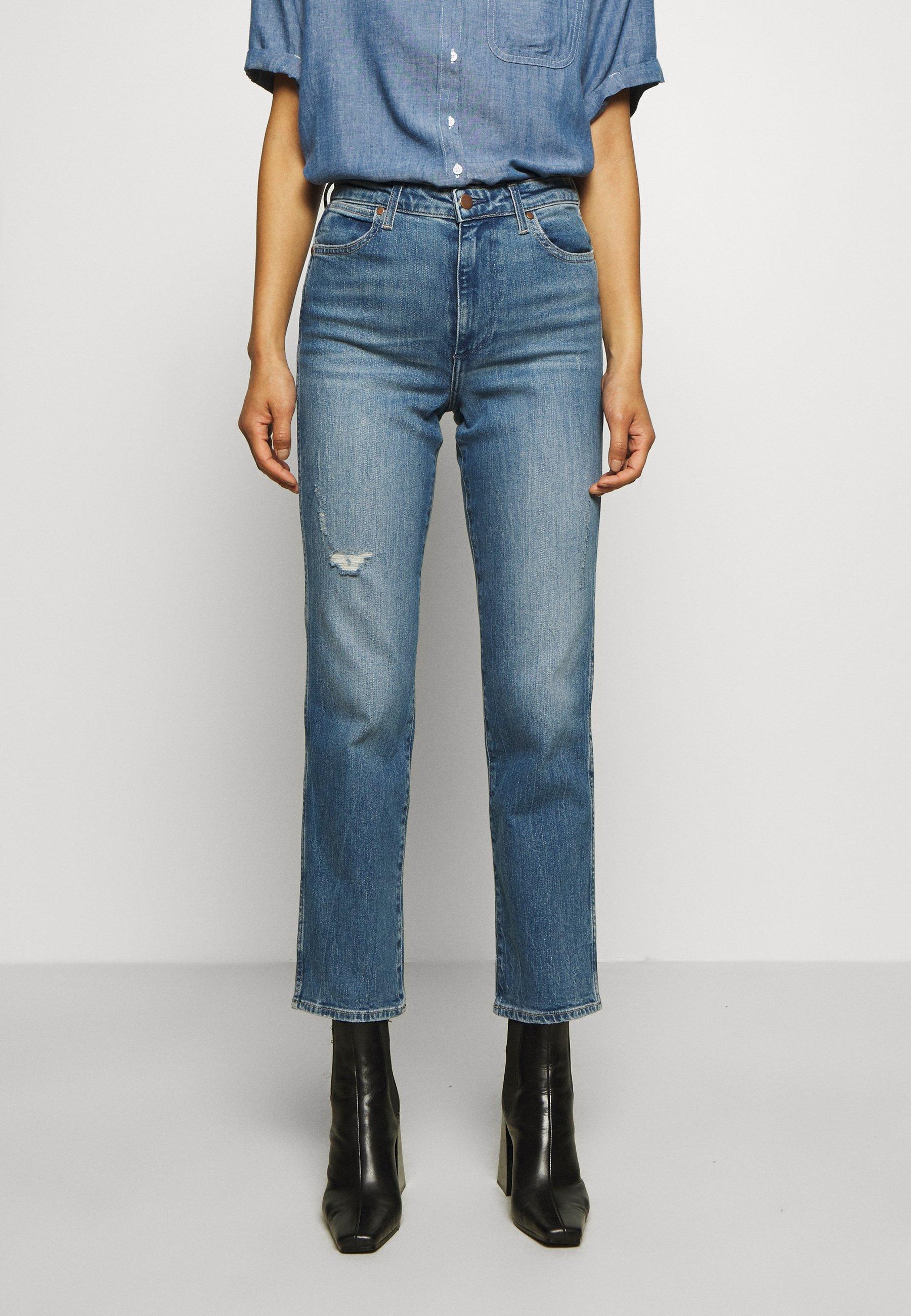 Wrangler The Retro Fit Jeans Mørk blå   Dame   Bukser