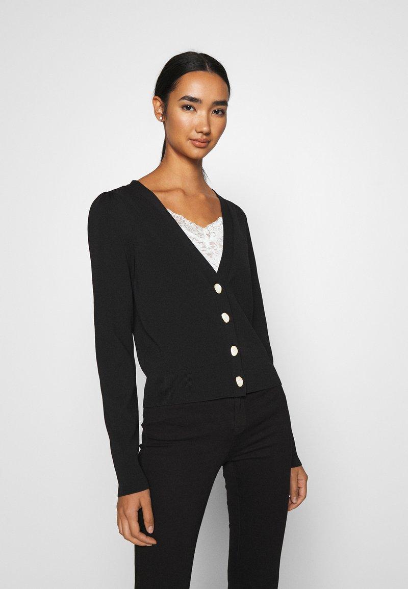 Vero Moda - VMMODO V NECK CARDIGAN - Cardigan - black