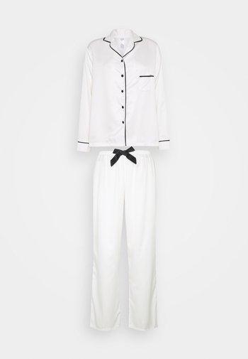 CLAUDIA SHIRT AND TROUSER - Pyjama set - cream/black
