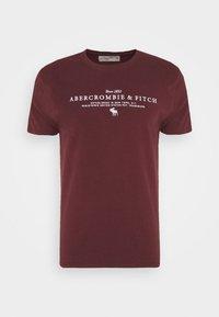 Abercrombie & Fitch - TECHNIQUE LOGO EUROPE - Print T-shirt - burg - 4