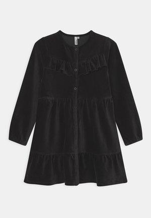 RICE BUTTON DRESS - Freizeitkleid - black
