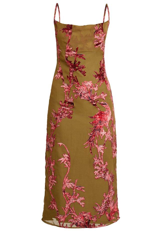 CAMI DRESS  - Cocktailkjole - khaki, dark red