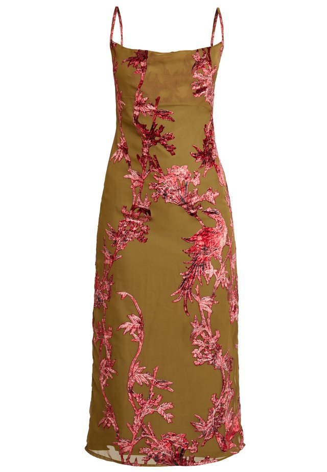 CAMI DRESS  - Cocktailjurk - khaki, dark red