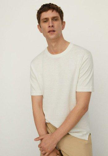 Basic T-shirt - cremeweiß
