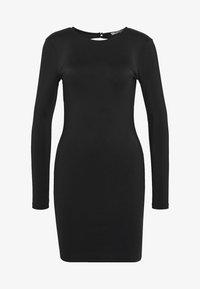 OPEN BACK DETAIL DRESS - Žerzejové šaty - black