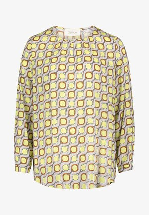 MIT MUSTER - Blouse - taupe/yellow
